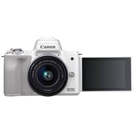 Canon EOS M50 Body With EF-M 15-45mm IS STM Lens Kit - White Thumbnail Image 8